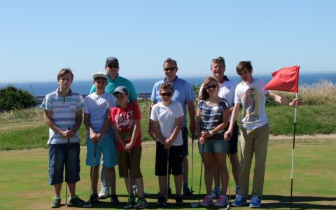 Golf Pro Impressed by Alderney Junior Golfers